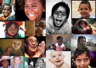 Photo visages humains